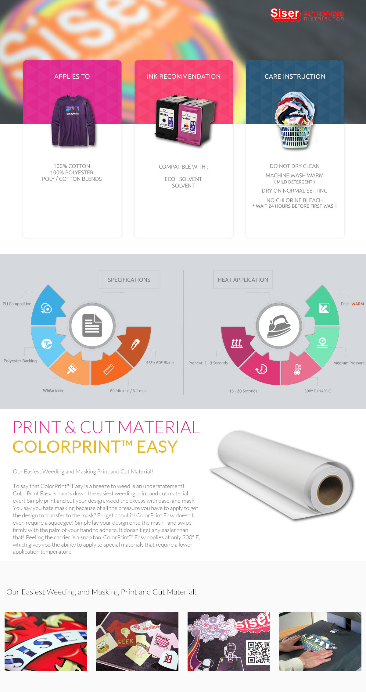 photo about Siser Colorprint Easy Printable Heat Transfer Vinyl identified as Information around Siser Printable Warm Shift Vinyl *COLORPRINT Simple* 20\